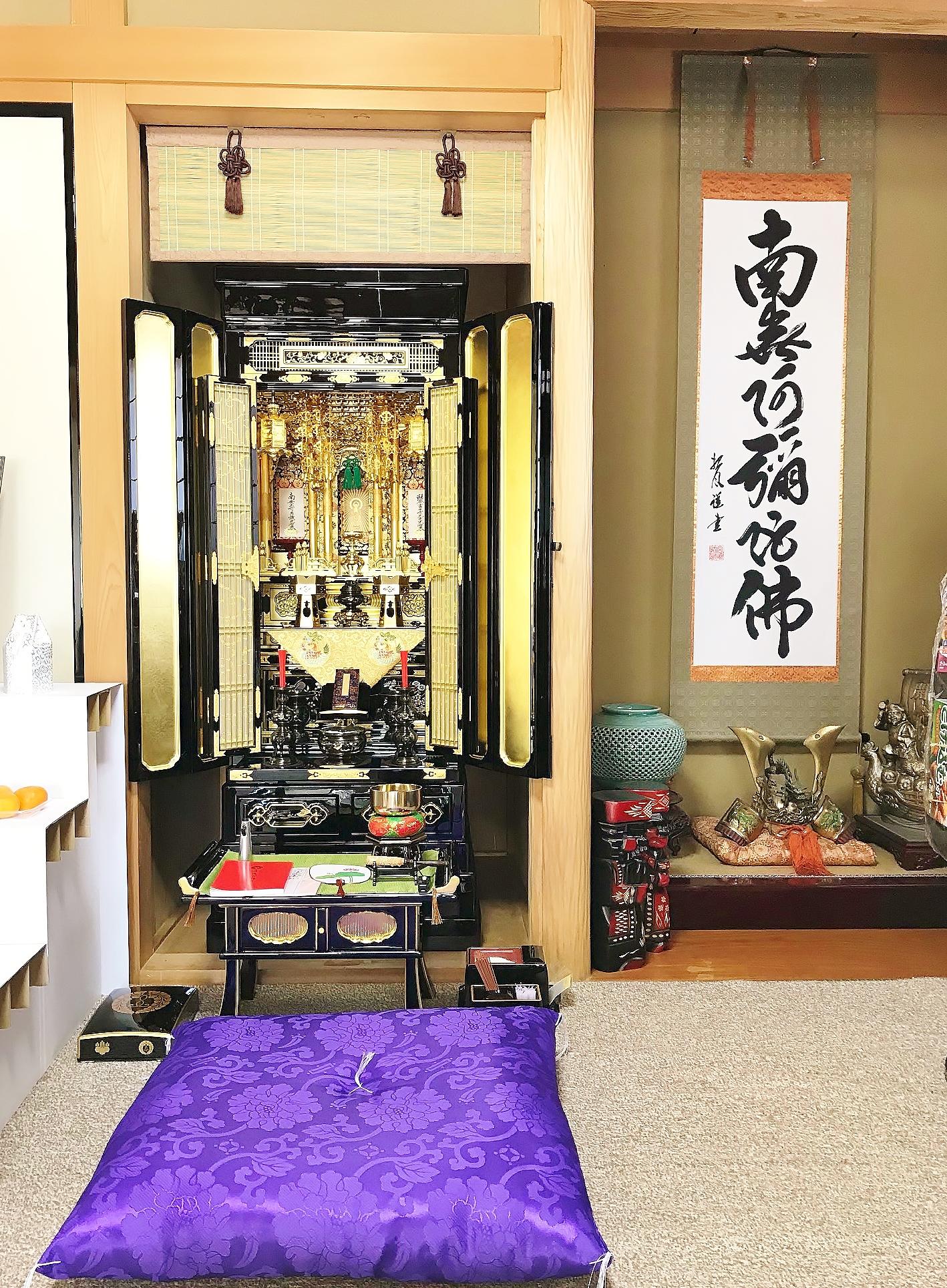 お仏壇納入のご報告(伝統的金仏壇)